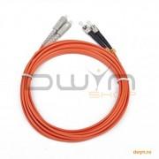 CABLU FIBRA OPTICA duplex multimode, 1m, conectori ST-SC, bulk, 'CFO-STSC-OM2-1M'