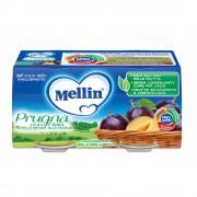 Mellin Omogeneizzati di frutta - Prugna - Confezione da 200 g ℮ (2 vasetti x 100 g)