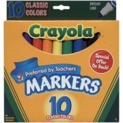 Crayola Classic Colors Broad Line Markers 10 Pk (6 Pack)