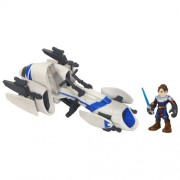 Star Wars Star Wars Jedi Force Barc Speeder Bike con Anakin Skywalker