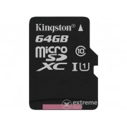 Card de memorie Kingston Secure Digital Micro 64GB SDXC Class10 cu adaptor Single Pack w/o
