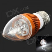 TB-LZD-03-3W-ZBG E27 3W 90lm 6500K 3-LED Cool White Candle Lamp Bulb - Golden + Silver