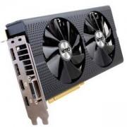 Видео карта SAPPHIRE AMD Radeon RX 470 NITRO+ GDDR5 8GB/256bit, 1260MHz/2000MHz, PCI-E 3.0 x16, HDMI, 2xDVI, 2xDP, Dual-X Cooler RGB, 11256-02-20G