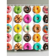rosegal Colorful Tasty Donut Print Shower Curtain