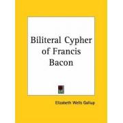 Biliteral Cypher of Francis Bacon (1899) by Elizabeth Wells Gallup