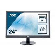 "AOC E2460sd2 24"" Full Hd Tn Nero Monitor Piatto Per Pc 4038986145213 E2460sd2 10_0g30225"