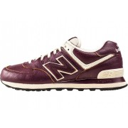 New Balance Classics 574 Classic Tennis Court Trainers In Burgundy Red