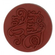 Magideal DIY Creative Vintage Round Wooden Seal Rubber Stamp(Thank You)