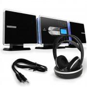 Auna Set impianto stereo CD player per MP3, cuffie wireless