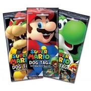 Super Mario Dog Tag And Trading Card Fun Packs X3