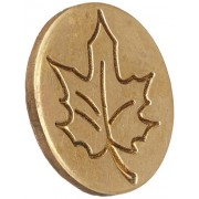 Manuscript Pen 727 Lea Decorative Seal Coin, 0.75 Inch, Leaf
