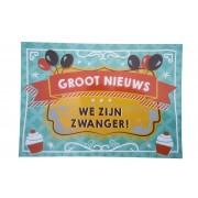 Kraskaart - We zijn Zwanger! Balloons & cupcakes