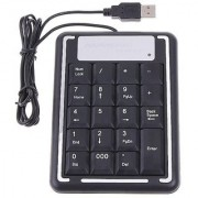 USB mini Numeric Keypad Keyboard for Laptop 19 Keys - Assorted Color