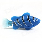 Flash ROBO flash electrico Pet Fish juguete - Azul + Negro + blanco