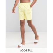 ASOS Желтые шорты для плавания средней длины ASOS TALL - Желтый