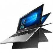 Laptop Asus Transformer Book Flip TP300UA-C4024T 13.3 inch Full HD Touch Intel Core i7-6500U 8GB DDR3 1TB HDD Windows 10 Black
