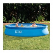 INTEX 28180 Piscina Easy Set con Pompa Filtro, 457x84 cm, Scaletta, Blu