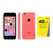 H2O Wireless Apple Iphone 5C 16GB Pink Smartphone: First Month $40 Plan Included (52783713)