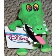 Retired Disney Peter Pan 6 Plush Captain Hooks Pet Crock Crocodile Bean Bag Doll