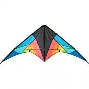 Aquilone acrobatico: Quickstep II - HQ-Invento, colore Chroma, 2 cavi per iniziare, apertura alare 130 cm, maniglie e cavi inclusi.