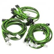 Kit cabluri modulare Super Flower Black/Green