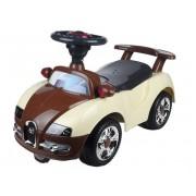 Baby Mix Bugatti lábbal hajtható zenélő és világító autó gyerekeknek bézs-barna színben