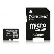 Card Transcend microSDHC 8GB Class 10 UHS-I 600x cu adaptor SD