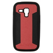 iCandy™ 2 Color Soft Leather Finish Back Cover For Samsung Galaxy Samsung Galaxy S Duos S7562 / Duos 2 S7582 - Red