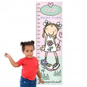 Personalised Height Chart - Bang On The Door Candy Floss
