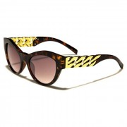 VG Eyewear zonnebril Cat Eye Gold Chain Brown vg29024