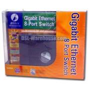 Blitzz BGS800 - 8-Port 10/100/1000 Gigabit Ethernet Switch