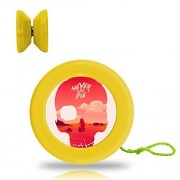 New Style YoYo Ball Skull Professional Responsive Yo-Yo Bearing Spinning Ball String Spin Toys-Yellow