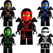 LEGO Ninjago: Conjunto de 5 minifiguras profundo Deepstone Kai, Lloyd, Jay, Zane y Cole del set 70751