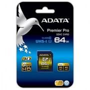 ADATA Premier Pro 64GB SDXC UHS-I U1 Memory Card (ASDX64GUI1CL10-R)