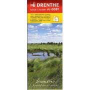 Wandelkaart - Fietskaart Drenthe Oost   Tourist Info Drenthe