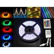 Fita LED RGB 5050 72W C/ 5 Metros IP65 - C/ Controle Remoto
