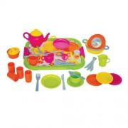 Gowi Toys 454-47 Servizio da cena (Rosa - Kit da 40 pezzi)