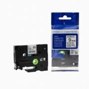 Brother TZ-FX221/TZe-FX221 9mm x 8m flexi černý tisk/bílý podklad kompatibilní