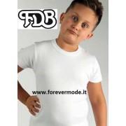 FDB Maglia bambino FDB a manica corta in caldo jersey di cotone