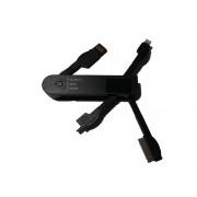 USB punjač za mobilne tel. crni
