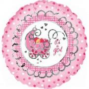 """Balon folie 45cm """"It's a girl"""", Amscan 10301"""