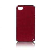 Калъф силиконов Fashion Style с кожен гръб за IPhone 5s кафяв