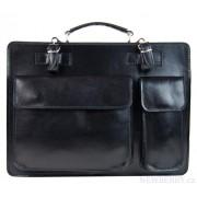 Moderní černá pánská aktovková taška pravá italská kůže DIVA
