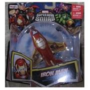 Marvel Super Hero Squad Iron Man Sky Squadies Die-Cast Airplane