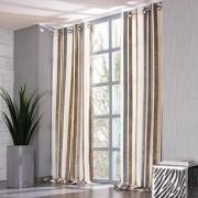 """Vorhang """"Lino"""", 1 Vorhang, 132 x 245 cm - Creme/Grau/Oliv"""