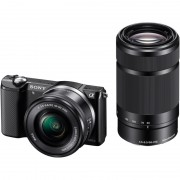 Sony Alpha A5000 + 16-50mm + 55-210mm zwart