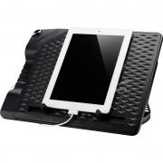 """Stand notebook COOLER MASTER 17"""". - NOTEPAL ERGOSTAND III, 1* fan 230mm, 4* USB & mini USB & micro USB, plastic & aluminiu, black (R9-NBS-E32K-GP)"""