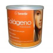 Colágeno Hidrolisado Sanavita Sabor Tangerina Com 300g