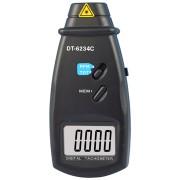 HOLDPEAK 6234C Digitális lézeres optikai fordulatszám mérő 2.5-99999RPM hord táska.