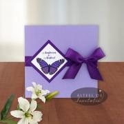 Invitatie nunta Culoarea dragostei Fluture